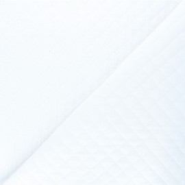 Quilted double gauze cotton fabric - white Kami mini x 10cm