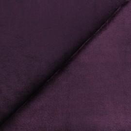 Tissu Doudou ultra doux - violet x 10cm