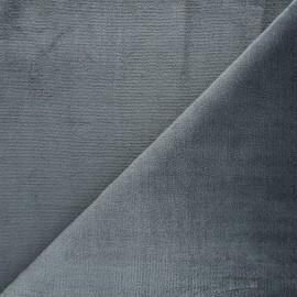 Tissu Doudou ultra doux - anthracite x 10cm
