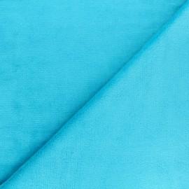 Tissu Doudou ultra doux - turquoise x 10cm