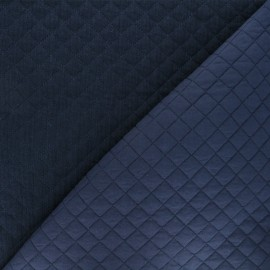 Quilted double gauze cotton fabric - navy blue Kami mini x 10cm
