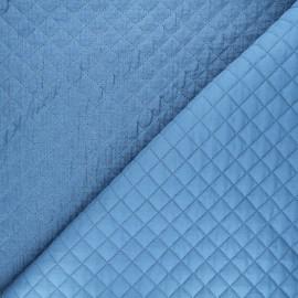 Quilted double gauze cotton fabric - blue Kami mini x 10cm