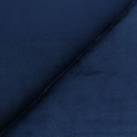 Tissu Doudou ultra doux - marine x 10cm