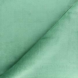 Tissu Doudou ultra doux - vert amande x 10cm
