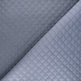 Quilted double gauze cotton fabric - dark grey Kami mini x 10cm