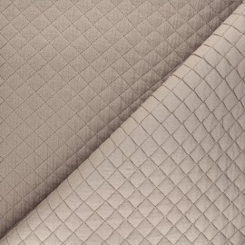 Quilted double gauze cotton fabric - taupe Kami mini x 10cm