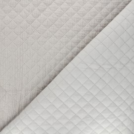 Quilted double gauze cotton fabric - greige Kami mini x 10cm