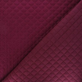 Quilted double gauze cotton fabric - purple red Kami mini x 10cm