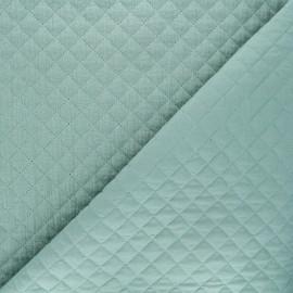 Quilted double gauze cotton fabric - celadon Kami mini x 10cm