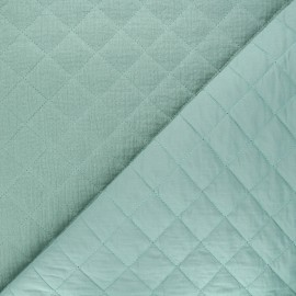 Quilted double gauze cotton fabric - celadon Kami maxi x 10cm