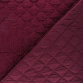 Quilted double gauze cotton fabric - purple red Kami maxi x 10cm