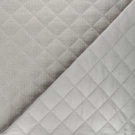 Quilted double gauze cotton fabric - greige Kami maxi x 10cm