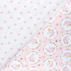 Quilted cotton fabric - light pink Jolly/Silly x 10cm