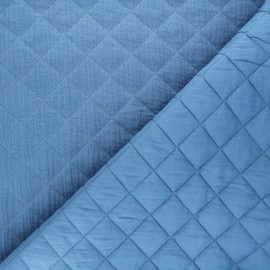 Quilted double gauze cotton fabric - blue Kami maxi x 10cm