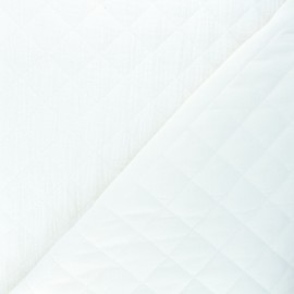 Quilted double gauze cotton fabric - raw Kami maxi x 10cm