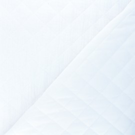 Quilted double gauze cotton fabric - white Kami maxi x 10cm