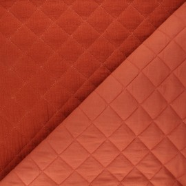 Quilted double gauze cotton fabric - rust Kami maxi x 10cm