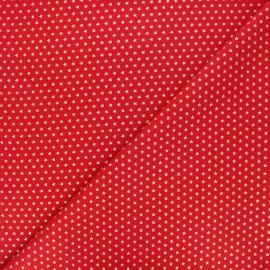 Tissu coton Golden stars - rouge x 10cm