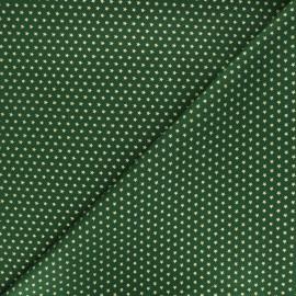 Cotton fabric - green Golden stars x 10cm
