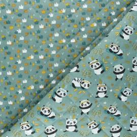 Quilted cotton fabric - eucalyptus green Sichuan/Xian x 10cm