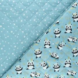 Quilted cotton fabric - blue Sichuan/Atria x 10cm