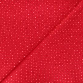 Tissu coton Golden dots - rouge x 10cm