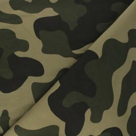 Tissu sweat léger Army - vert x 10cm