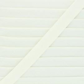 Biais tout textile 20 mm - écru x 1m