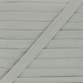 Biais tout textile 20 mm - gris x 1m