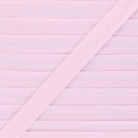Biais tout textile 20 mm - rose x 1m