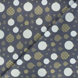 Cotton fabric - grey Golden ornaments x 10cm