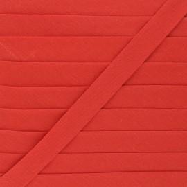 Biais tout textile 20 mm - rouge brique x 1m
