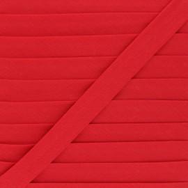 Biais tout textile 20 mm - rouge coquelicot x 1m