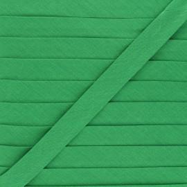 Biais tout textile 20 mm - vert émeraude x 1m