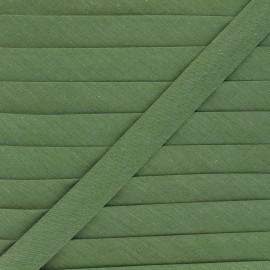 Biais tout textile 20 mm - vert olive x 1m
