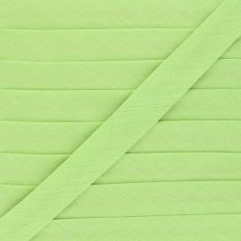 Biais tout textile 20 mm - vert anis x 1m