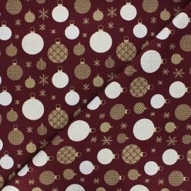 Tissu coton Golden ornaments - bordeaux x 10cm