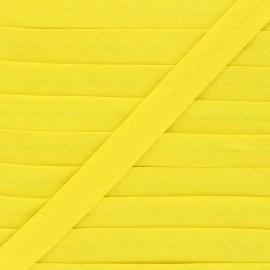 Biais tout textile 20 mm - jaune  x 1m