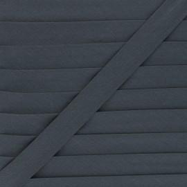 Biais tout textile 20 mm - gris foncé x 1m