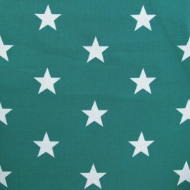 Tissu Grandes étoiles bleu-vert x 10cm