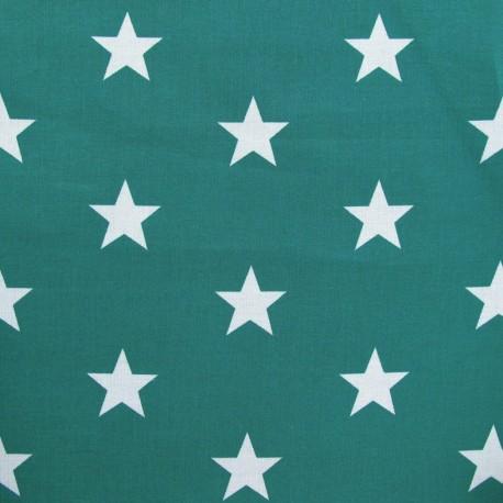 Big Stars Fabric - Blue/Green x 10cm