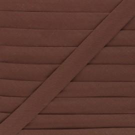 Biais tout textile 20 mm - marron x 1m