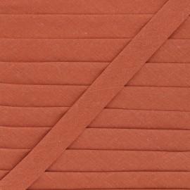 Biais tout textile 20 mm - rouille x 1m