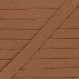 Biais tout textile 20 mm - noisette x 1m