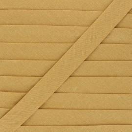 Biais tout textile 20 mm - camel x 1m