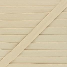 Biais tout textile 20 mm - beige x 1m