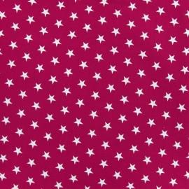 Stars Fabric - White / Purple x 10cm
