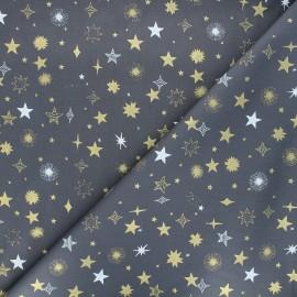 Cotton fabric - grey Golden sky x 10cm