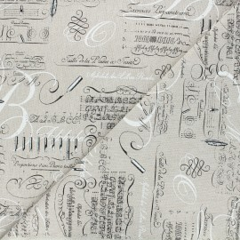 Linen aspect polycotton fabric - natural Rimbaud x 10cm