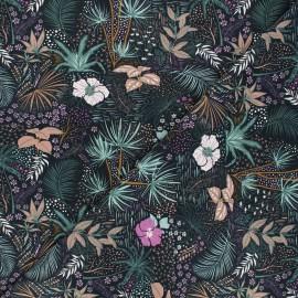 Tissu jersey Nuit tropicale - rose x 10cm